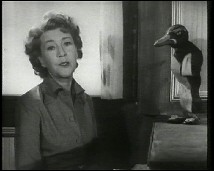 Annette Mills with Mr Peregrine Esquire in 'Muffin and the Squeaking Shoes'